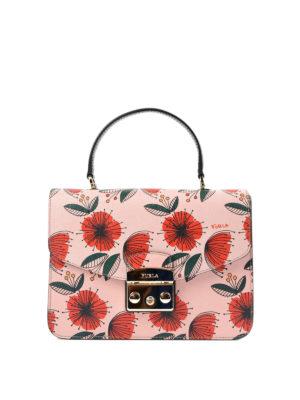 Furla: shoulder bags - Metropolis poppy patterned bag