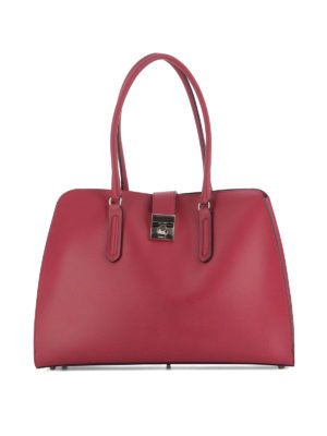 Furla: shoulder bags - Milano smooth leather satchel
