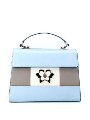 FURLA: borse a spalla - Borsa Mughetto in pelle a blocchi di colore