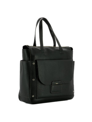 Furla: shoulder bags online - Adele black leather square bag