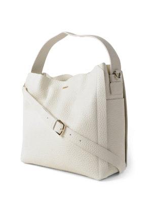 Furla: shoulder bags online - Capriccio M white leather hobo bag