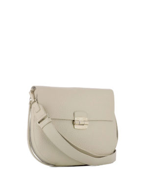 Furla: shoulder bags online - Club beige leather saddle bag
