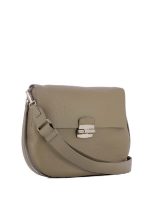 Furla: shoulder bags online - Club beige leather shoulder bag