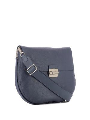 Furla: shoulder bags online - Club blue leather saddle bag