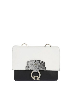 Furla: shoulder bags - Scoop small color block leather bag