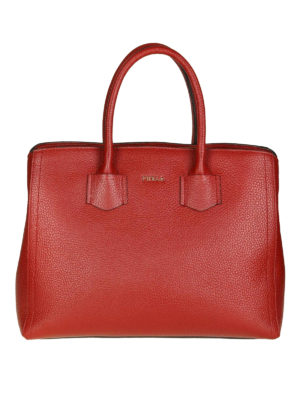FURLA: shopper - Borsa media a mano Alba color ciliegia