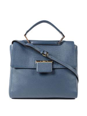 Furla: totes bags - Artesia blue leather bag