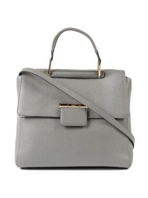 Furla: totes bags - Artesia light grey leather bag