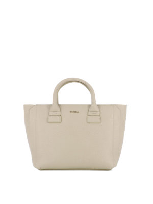 Furla: totes bags - Capriccio beige leather small tote