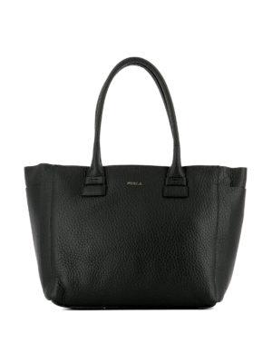 Furla: totes bags - Capriccio black leather medium tote