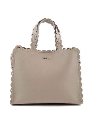 FURLA: shopper - Piccola shopper sabbia Merletto