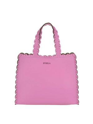 FURLA: shopper - Piccola shopper rosa Merletto