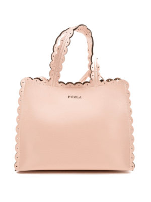 FURLA: shopper - Piccola shopper Merletto magnolia