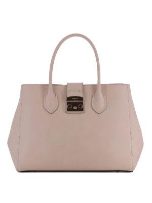 FURLA: shopper - Tote Metropolis L in pelle magnolia