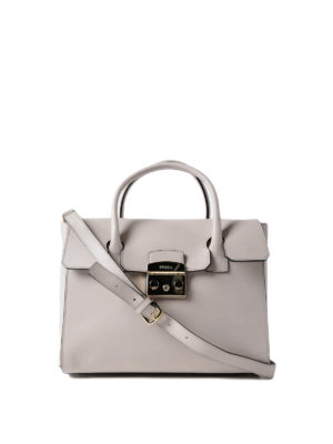 Furla: totes bags - Metropolis M beige leather bag