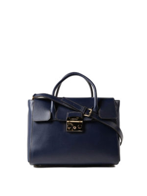 Furla: totes bags - Metropolis M dark blue leather bag