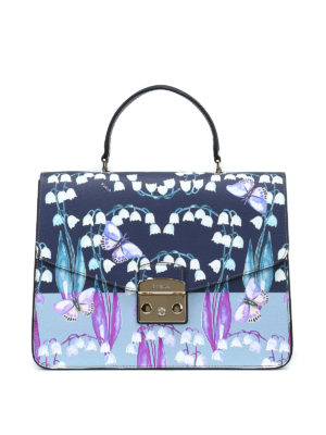 FURLA: shopper - Metropolis M con stampa floreale