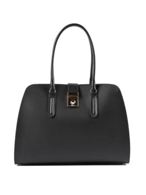Furla: totes bags - Milano L resin coated leather tote