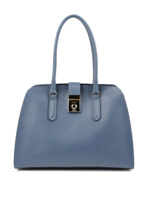 Furla: totes bags - Milano M resin coated leather tote