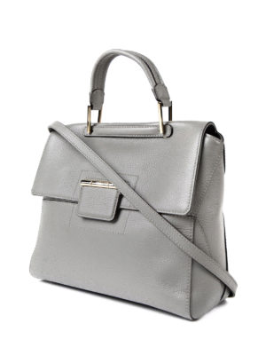 Furla: totes bags online - Artesia light grey leather bag