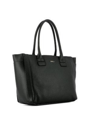 Furla: totes bags online - Capriccio black leather medium tote