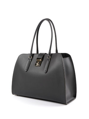 Furla: totes bags online - Milano L resin coated leather tote