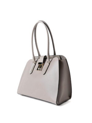 Furla: totes bags online - Milano M coated leather handbag