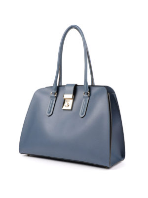 Furla: totes bags online - Milano M resin coated leather tote