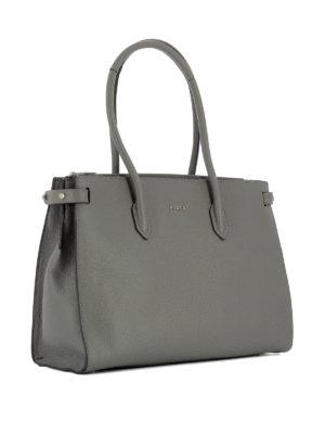 Furla: totes bags online - Pin grey leather medium tote