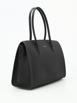 Furla: totes bags online - Pin L grainy leather bowling bag