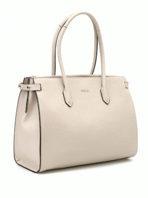 Furla: totes bags online - Pin M grained leather tote