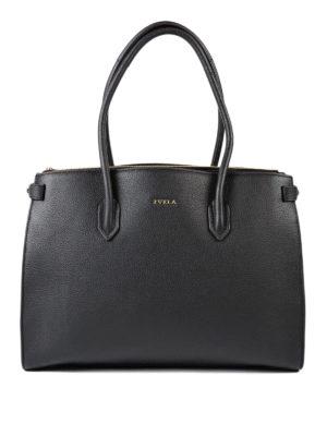 Furla: totes bags - Pin black medium tote