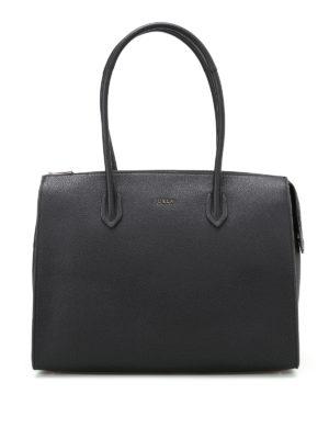 Furla: totes bags - Pin L grainy leather bowling bag