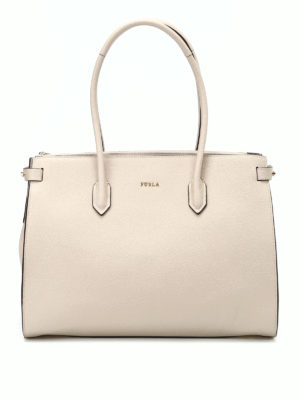 Furla: totes bags - Pin M grained leather tote