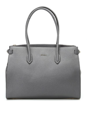 Furla: totes bags - Pin M grainy leather tote