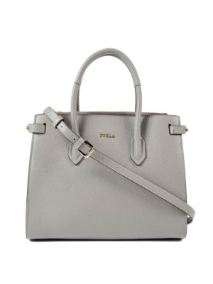 Furla: totes bags - Pin S leather tote