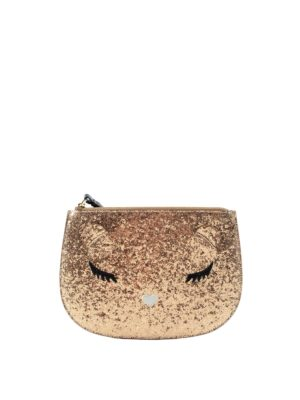 Furla: wallets & purses - Allegra glittered extra large pouch