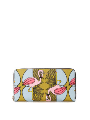 Furla: wallets & purses - Babylon flamingo print wallet