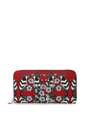 Furla: wallets & purses - Babylon floral print wallet