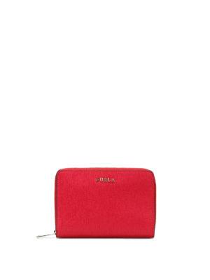 Furla: wallets & purses - Babylon M zip around red wallet