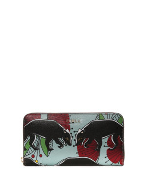 Furla: wallets & purses - Babylon panther print wallet
