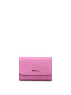 Furla: wallets & purses - Babylon small trifold pink wallet