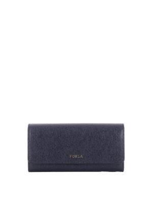 Furla: wallets & purses - Babylon XL blue wallet