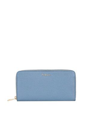 Furla: wallets & purses - Babylon XL light blue zipped wallet