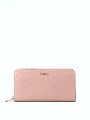 FURLA: portafogli - Portafoglio Babylon XL rosa cipria