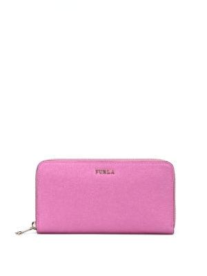 Furla: wallets & purses - Babylon XL zip around pink wallet