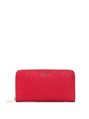Furla: wallets & purses - Babylon XL zip around ruby wallet