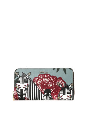Furla: wallets & purses - Babylon zebra print wallet