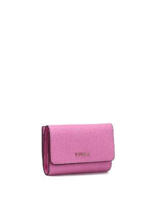 Furla: wallets & purses online - Babylon small trifold pink wallet