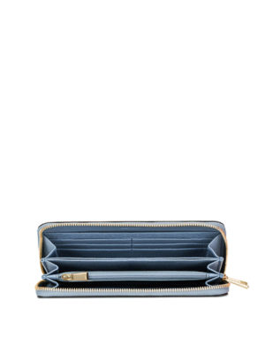 Furla: wallets & purses online - Babylon XL light blue zipped wallet